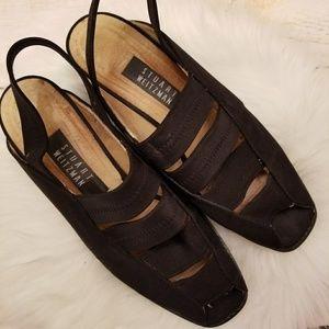 Stuart Weitzman 02542 slingback peep toe heels 9